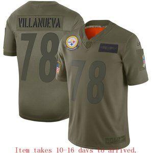 Steelers #78 Alejandro Villanueva Jersey Camo